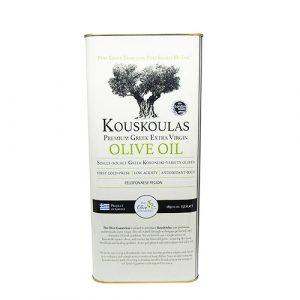 Kouskoulas Oils – Premium Greek Extra Virgin Olive Oil 5 liter