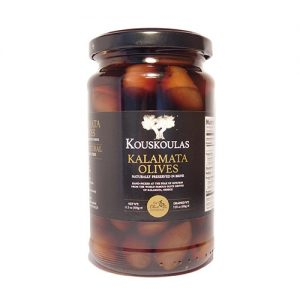 Kouskoulas Oils – Whole Kalamata Olives Naturally Preserved in Brine, 11.2 oz / 320 g