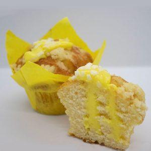 Muffin Vanilla with Lemon Cream